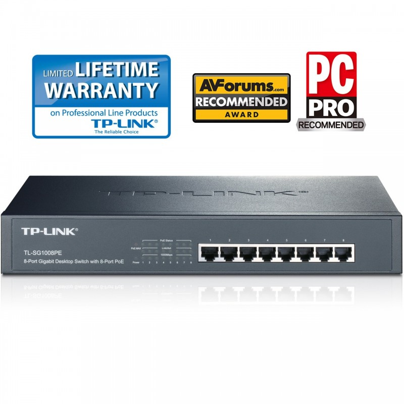 TP-LINK TL-SG1008PE 8 Port Gigabit PoE Switch