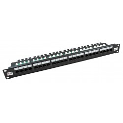 24 Port Cat5e UTP CCS 20/20 Right Angled Patch Panel