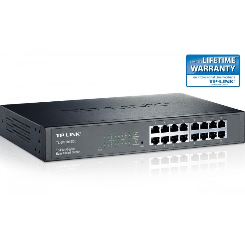 TP-LINK TL-SG1016DE 16-Port Gigabit Easy Smart Switch
