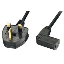 UK Mains - Right Angled IEC C13 Female Lead