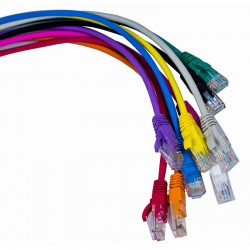 Cat5e UTP RJ45 LSOH Patch Leads with latch protection boot.