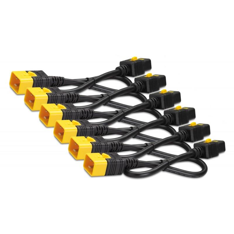 APC AP8716S Power Cord Kit (6 ea), Locking, C19 to C20, 1.8m
