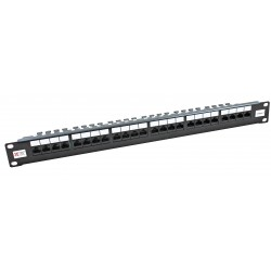24 Port Cat6 UTP CCS 20/20 Right Angled Patch Panel