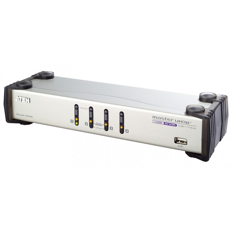 Aten CS1744 4-Port USB Dual-View KVMP™ Switch