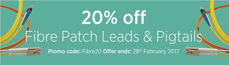 20% Off Fibre Patch Leads