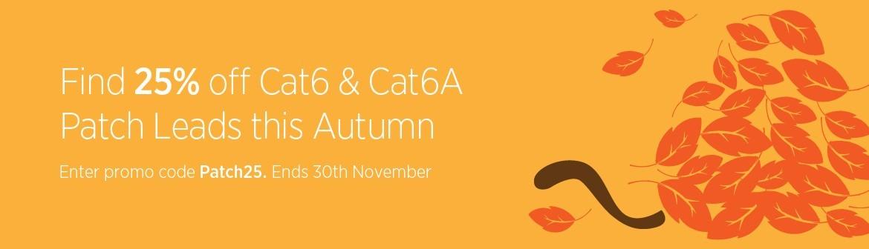25% off Cat6 & Cat6a Patch Leads