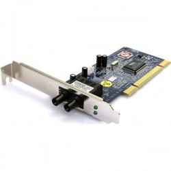 StarTech.com 100Mbps PCI Multi Mode ST Fiber Ethernet NIC Network Adapter 2km