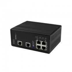 StarTech.com 6 Port Unmanaged Industrial Gigabit Ethernet Switch w/ 4 PoE+ Ports and Voltage Regulation - DIN Rail / Wall-Mounta