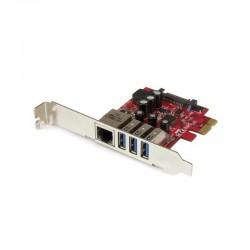 StarTech.com 3-Port PCI Express USB 3.0 Card + Gigabit Ethernet