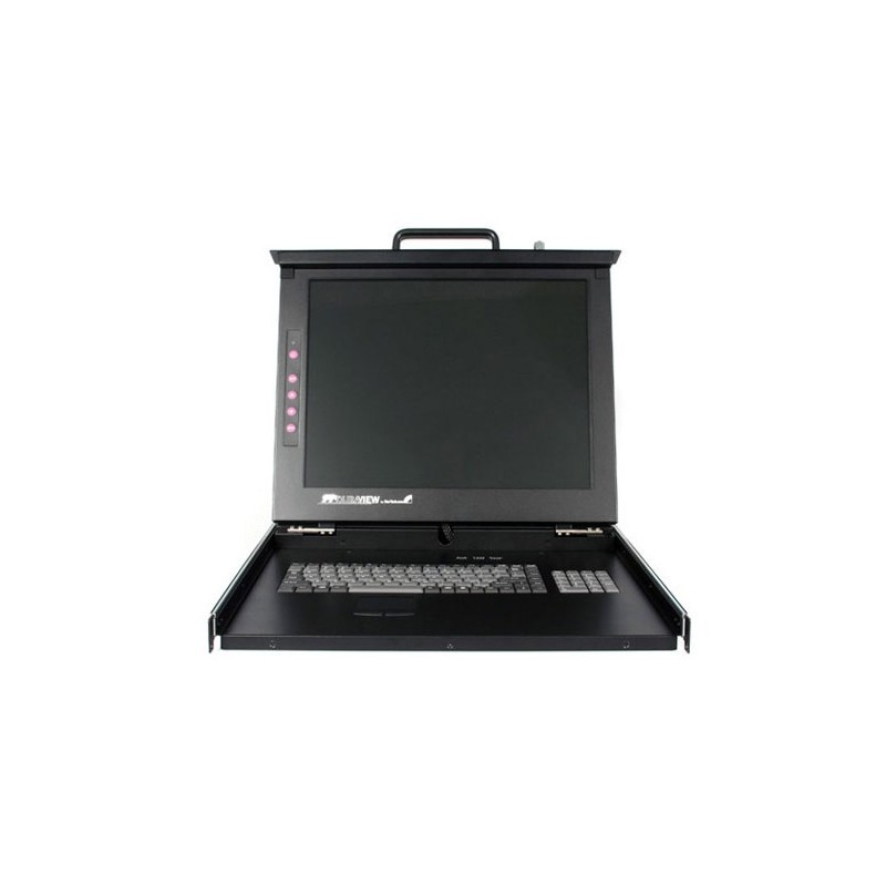 "StarTech.com 19"" Folding LCD Rack Console With 16 Port Multi-Platform KVM"