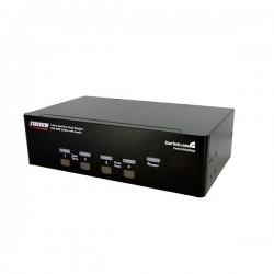 StarTech.com 4 Port Dual DVI USB KVM Switch with Audio & USB 2.0 Hub