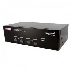 StarTech.com 4 Port DVI VGA Dual Monitor KVM Switch USB with Audio & USB 2.0 Hub