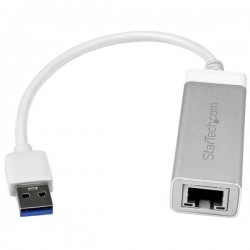 StarTech.com USB 3.0 to Gigabit Network Adapter - Silver