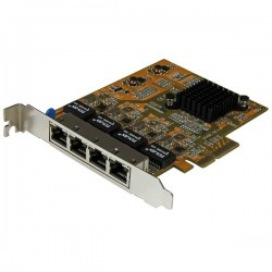 StarTech.com 4-Port PCIe Gigabit Network Adapter Card