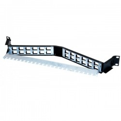 24 Way Unloaded Angled Keystone Patch Panel
