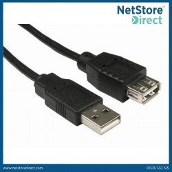 USB 2.0 A Male - A Female Extension Cable