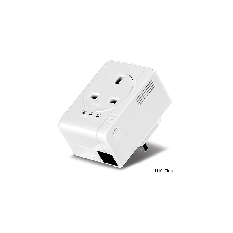 Trendnet TPL-407E Powerline 500 AV Nano Adapter with Built-In Outlet