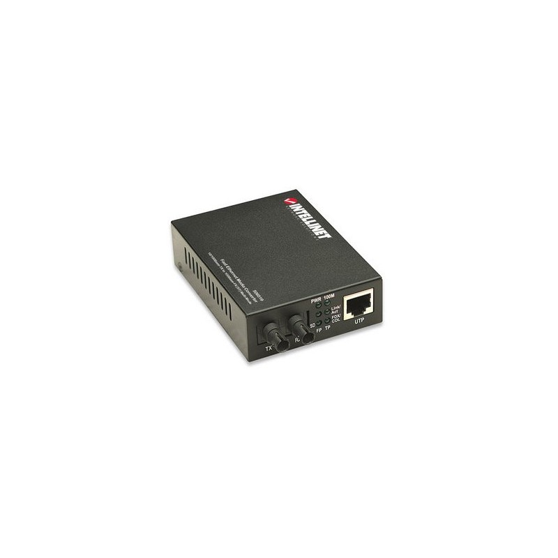 Intellinet 506519 Fast Ethernet Multimode ST Media Converter