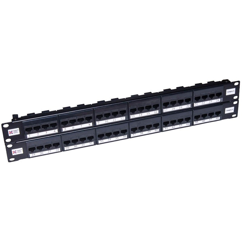 48 Port Cat6 UTP CCS Elite Patch Panel