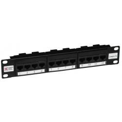 "12 Port Cat5e 10"" UTP Patch Panel"