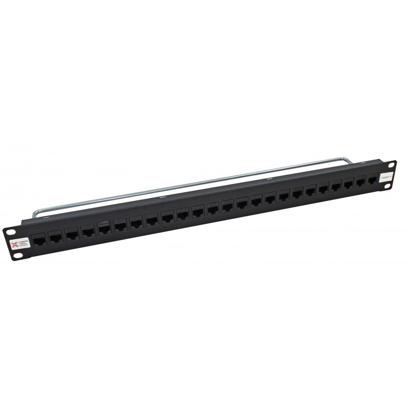 24 Port Thru-Coupler Cat6 UTP RJ45 Patch Panel