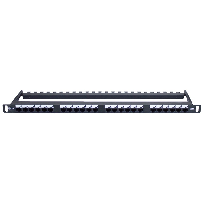Half U Cat 6 UTP Elite Patch Panel