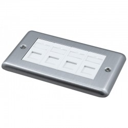 Doublegang Metal Faceplate with 4 Cat5e UTP Modules