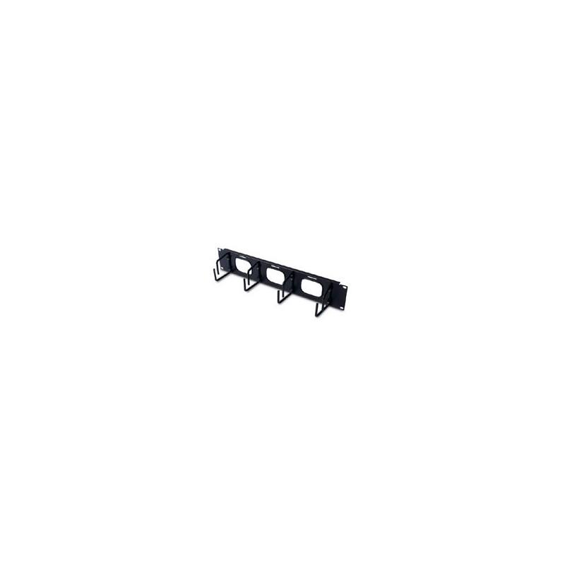 APC 2U Horizontal Cable Organizer w/ Pass-Thru Black