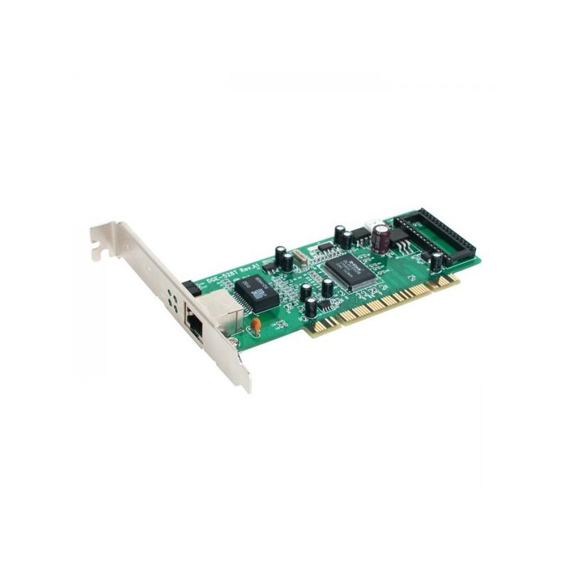 D-Link  32-bit PCI. 10/100/1000Mbps autosense. Full Duplex. TP connector