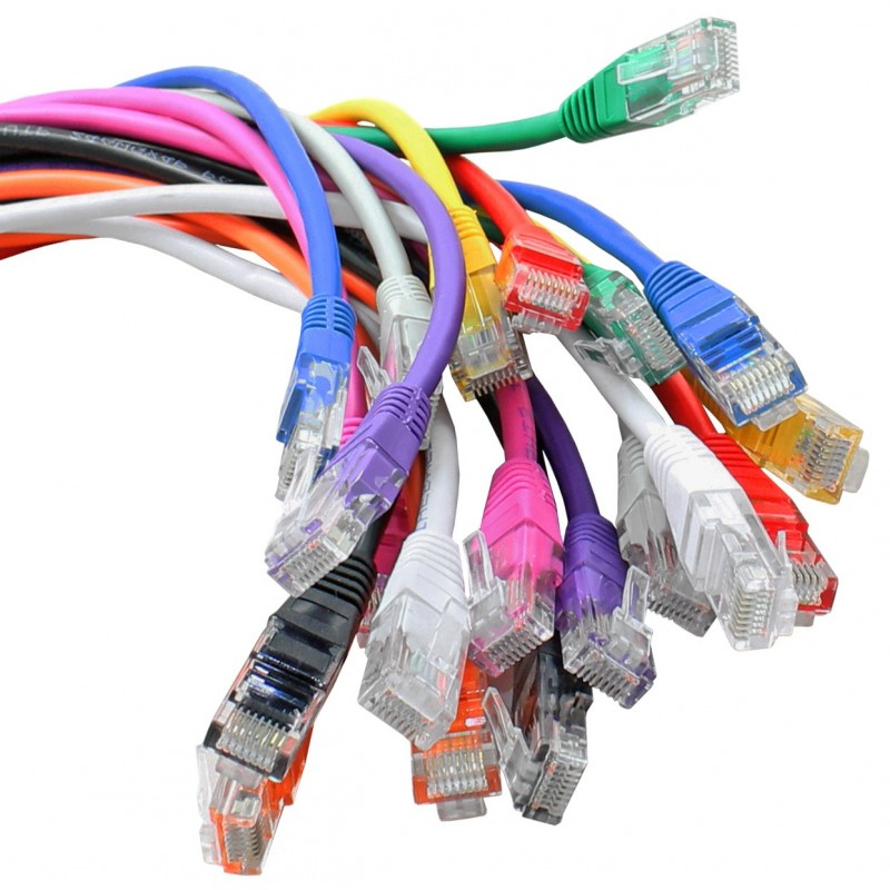 Cables UK 0.5m,Cat5e,Cat5 Network Cable,Patch,Lead,RJ45,VIOLET