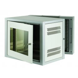 15u 500mm Deep 2 Part Wall Mounted Data Cabinet