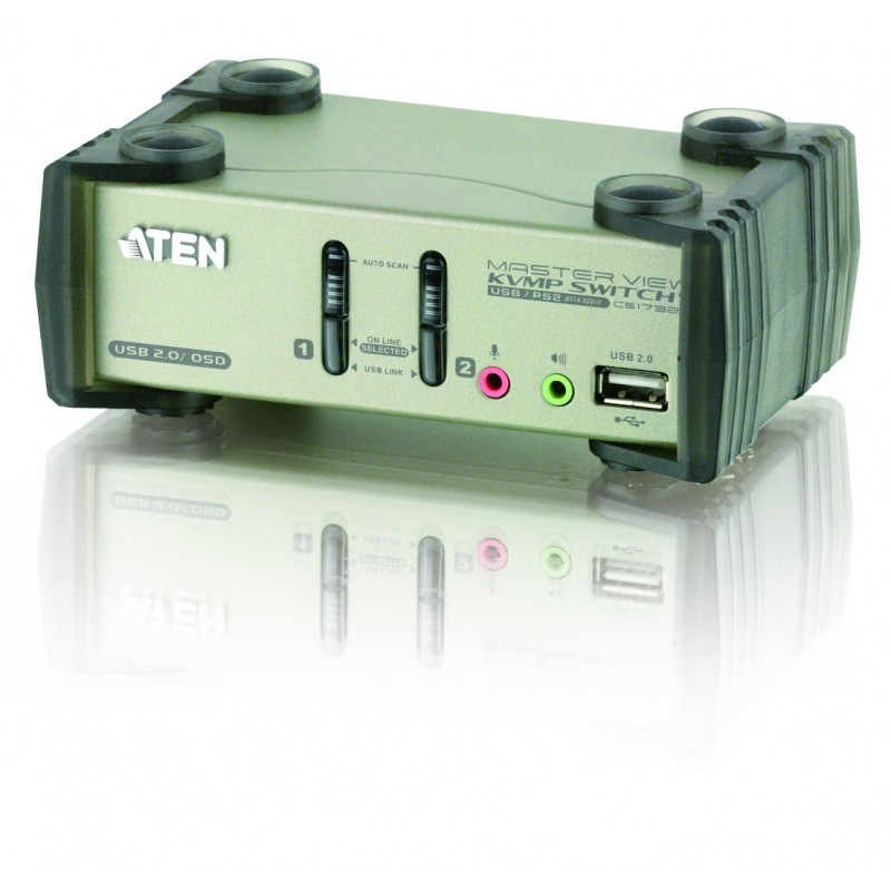 Aten CS1732B 2-Port USB 2.0 KVMP™ Switch with OSD