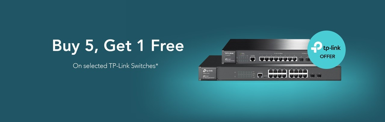 Buy 5, get one free on selected TP-Link switches